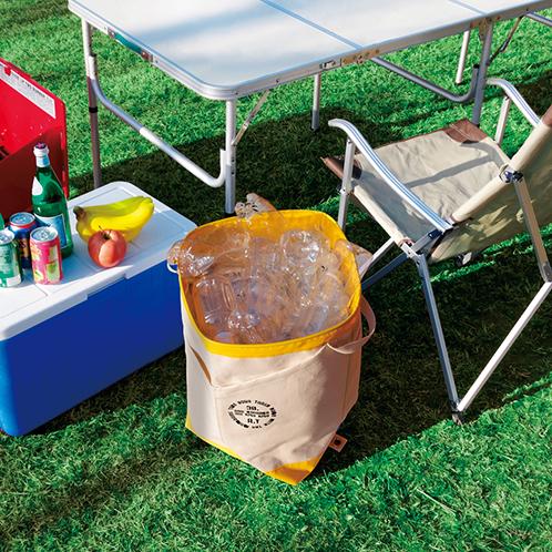 ゴミは思い出と共に持ち帰ろう!アウトドアで便利なゴミ箱にもなるトート