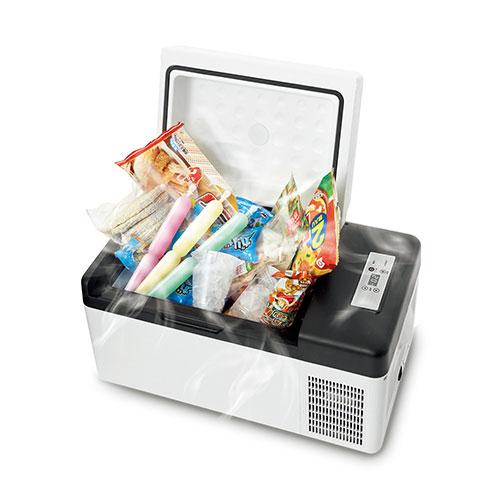マイナス20度Cまで冷やせる電気保冷庫<br>DC接続でアイスも冷やせる