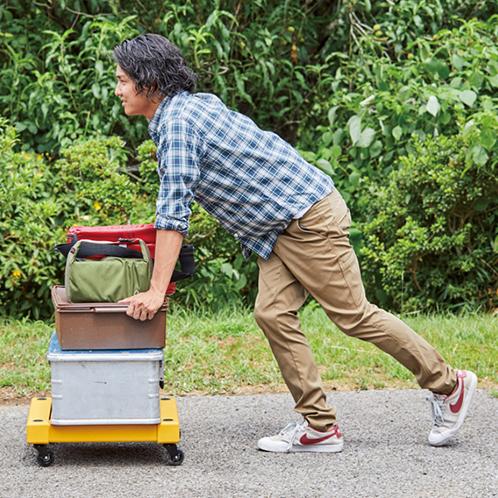 自宅でも、車に積んでも役に立つ! 場所をとらない組み立て式台車