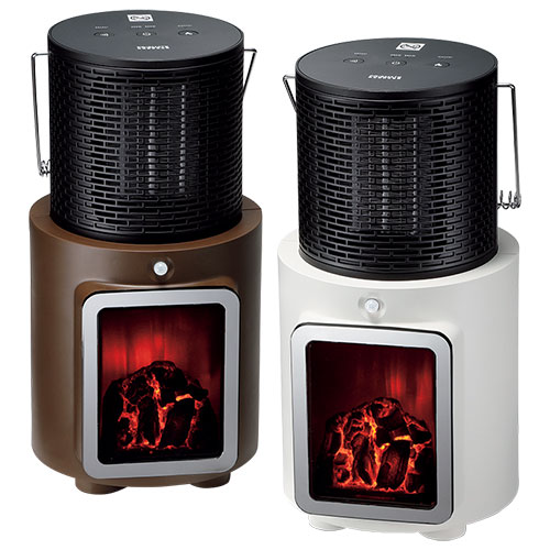 人感センサー付暖炉ヒーター