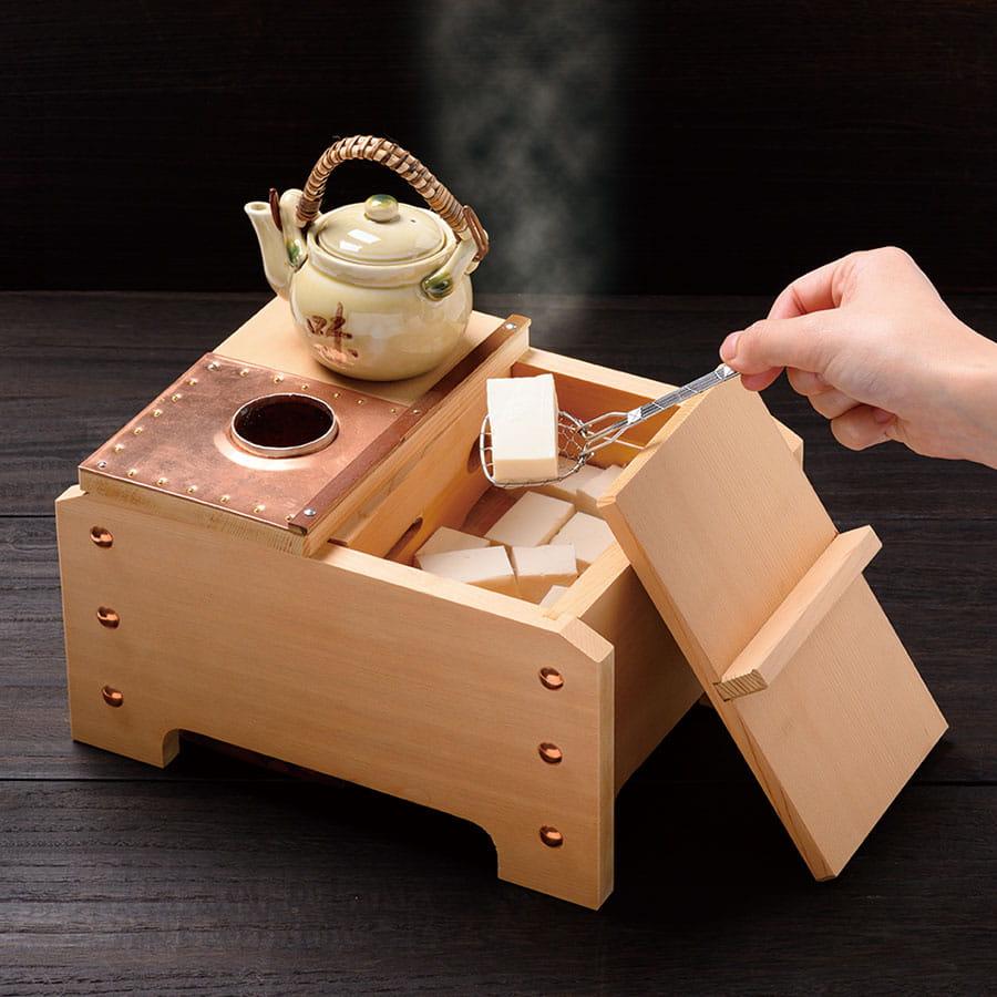 一人用角型湯豆腐セット(木炭専用)