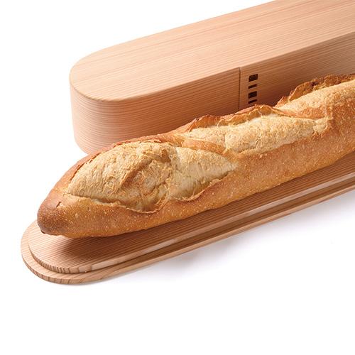パンのための曲げわっぱ「バゲットコンテナ」