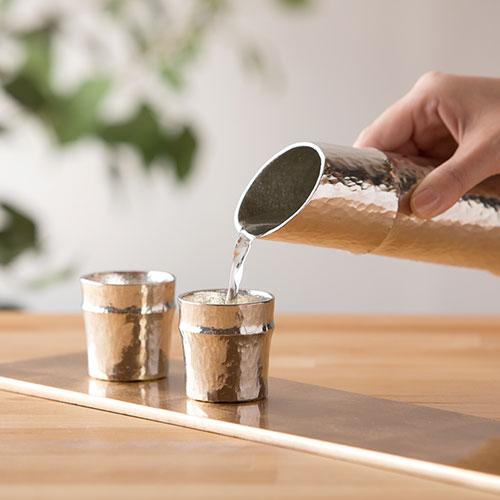 竹型酒器セット