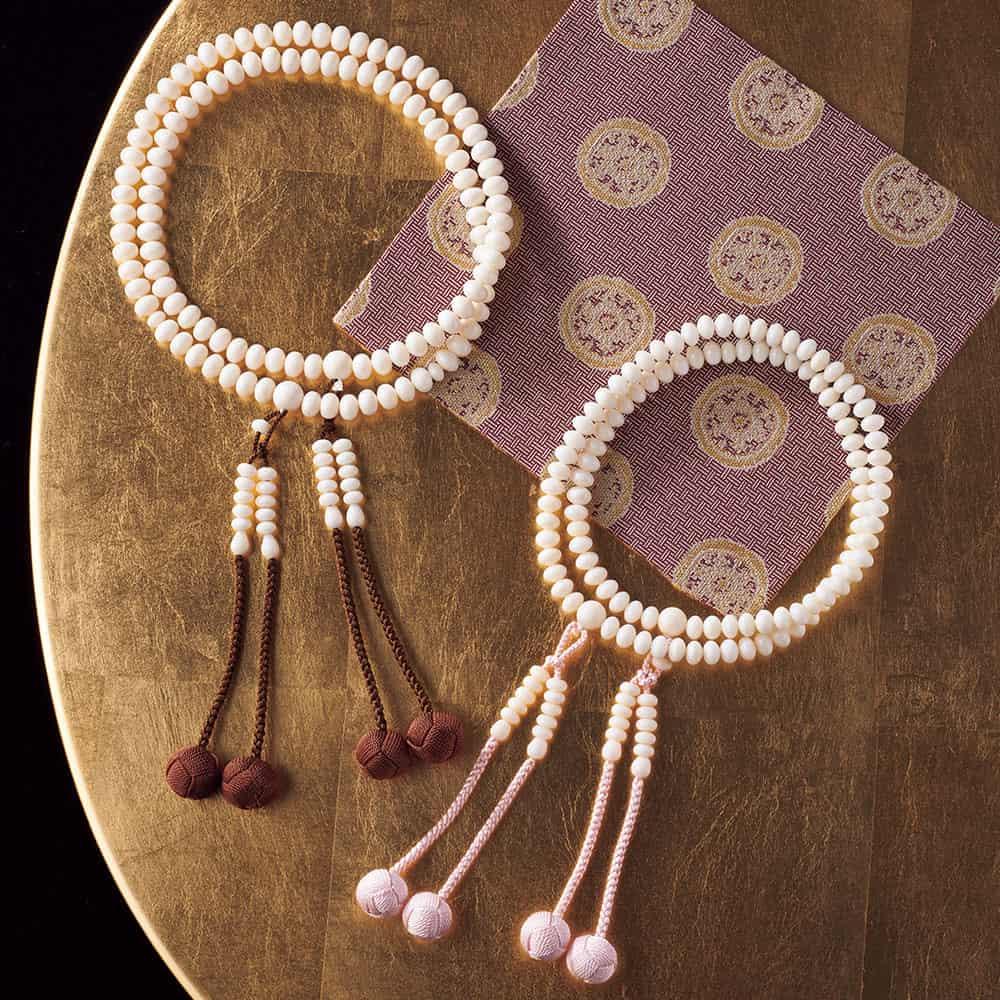白珊瑚の108珠本連数珠