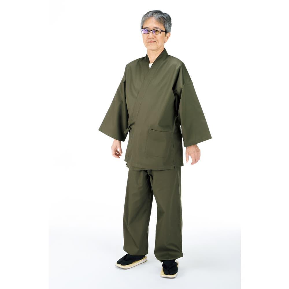 抗菌・抗ウイルス機能繊維加工の作務衣