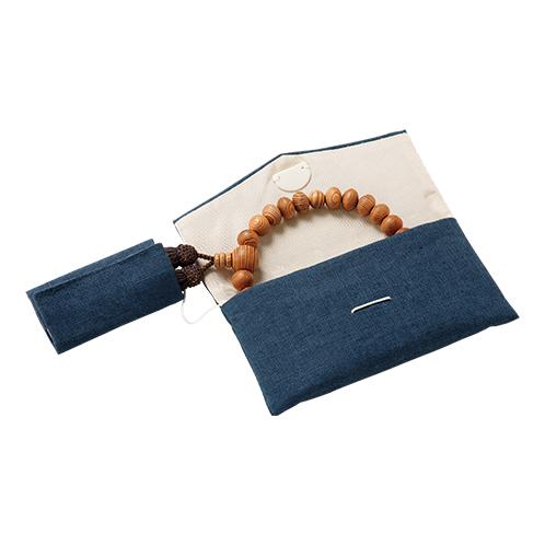 屋久杉の京念珠と念珠袋