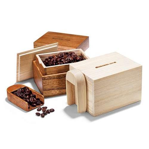 桐のコーヒー豆箱