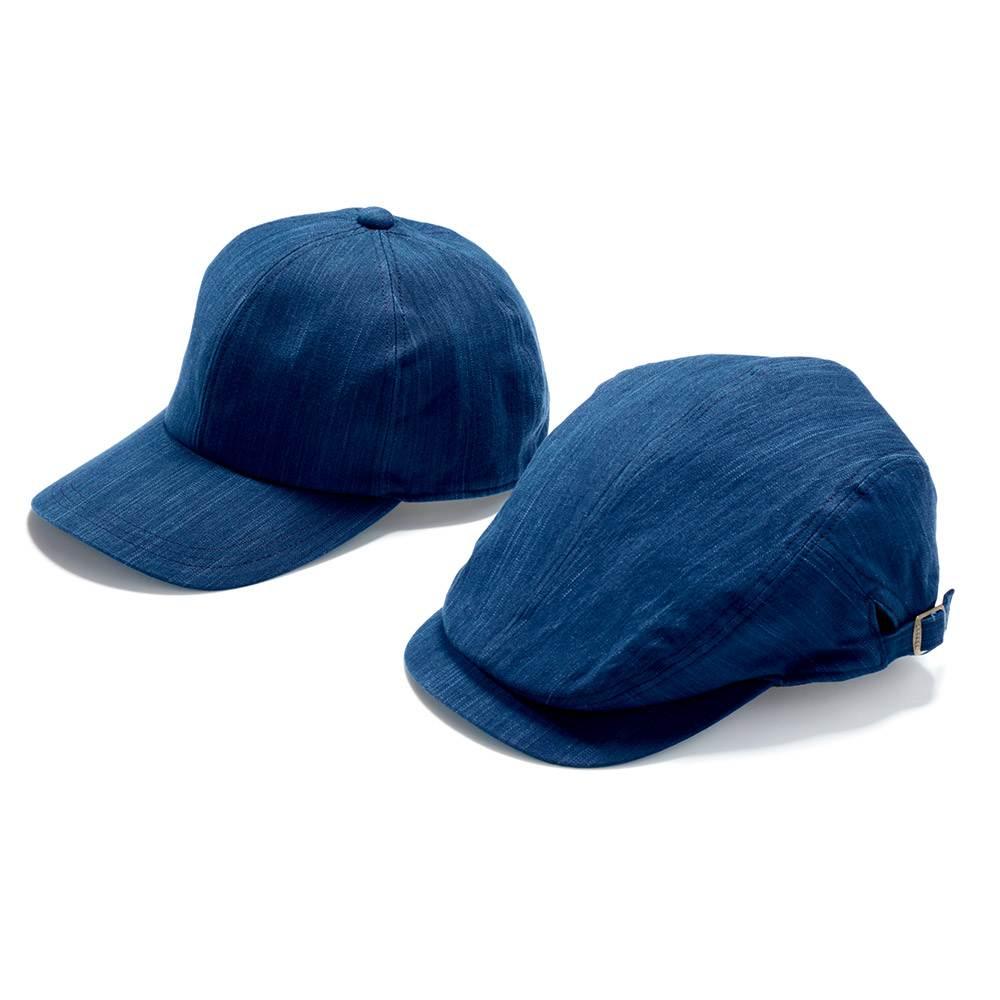 武州正藍染のキャップとハンチング