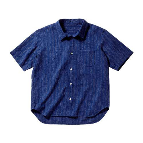 阿波しじら織半袖シャツ