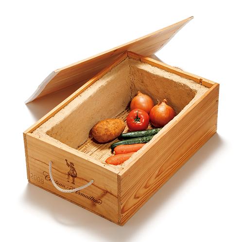 左官職人が考えた小さな野菜蔵