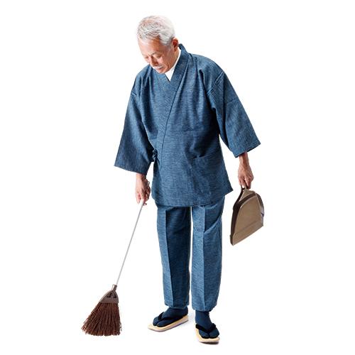 久留米織りの作務衣