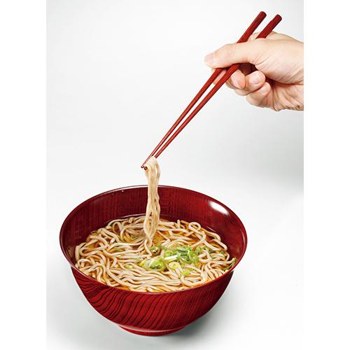 けやきの大きなめん鉢と箸セット