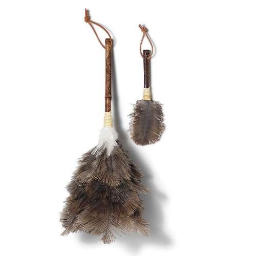 ダチョウの毛バタキ 2本セット