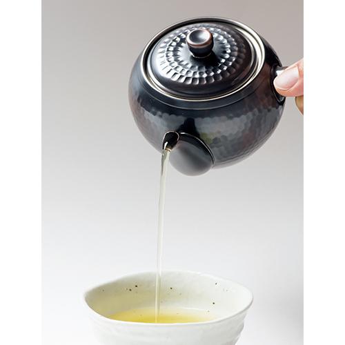 銅製急須・茶筒セット(茶箕付)
