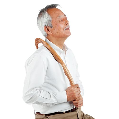 欅のこぶ付き指圧棒