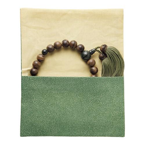 シャム柿と緑紋石の片手念珠「艮」