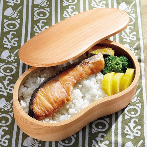 日田檜のくり抜きひょうたん型弁当箱