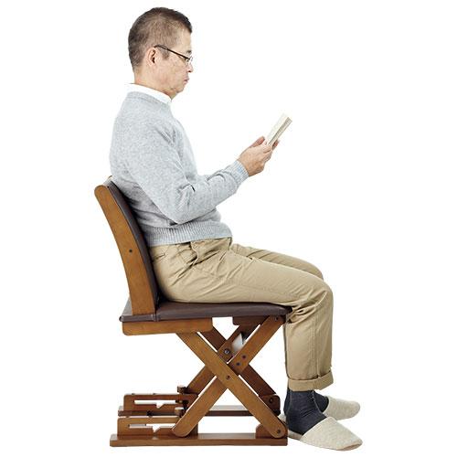 高さが変わる座椅子・レザー