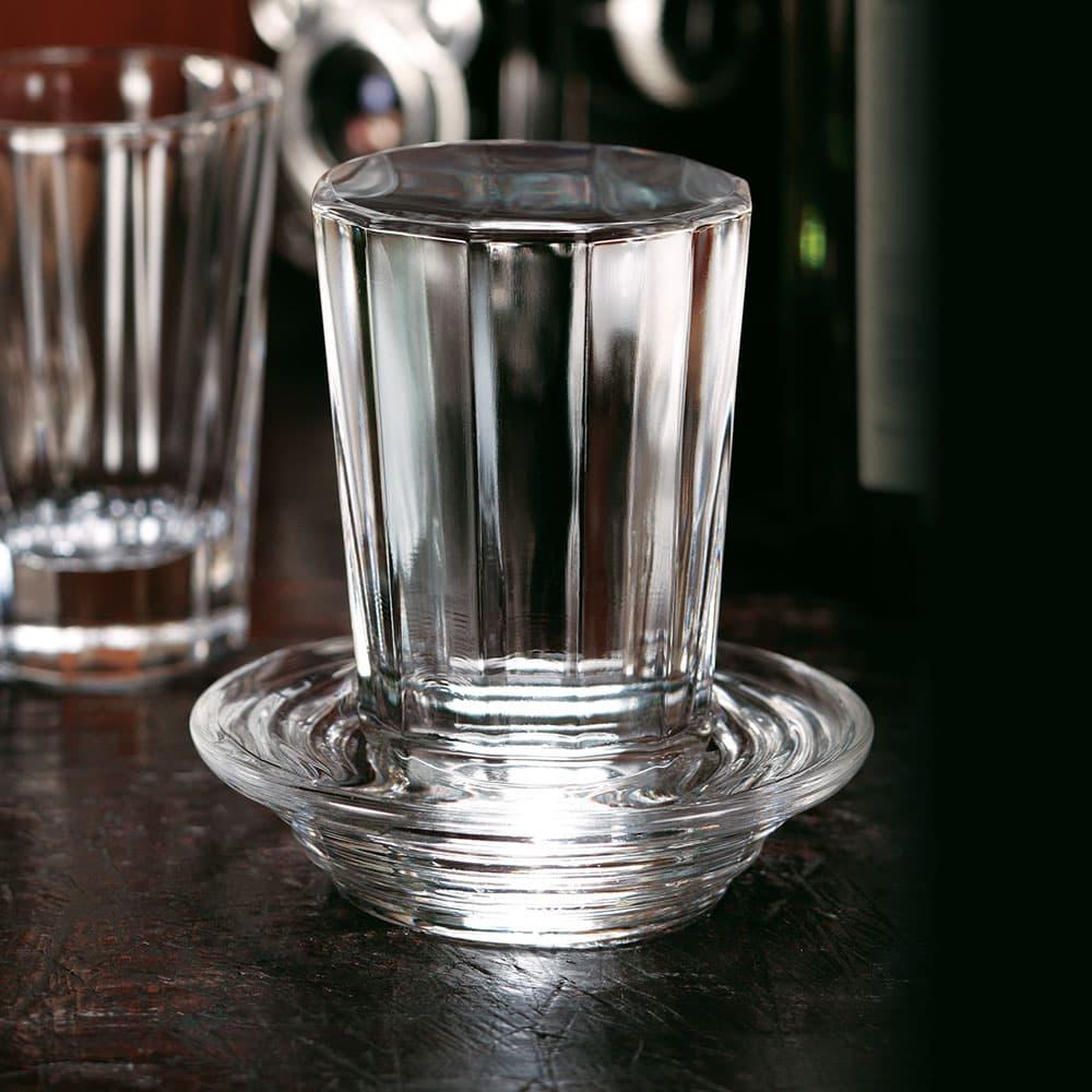 飲み屋の厚口グラスと酒受け皿各2個セット