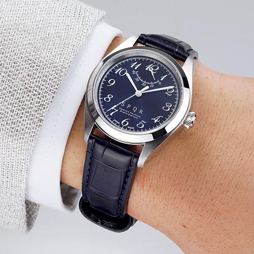 手巻付自動巻パワーリザーブ腕時計「ノンカレ」