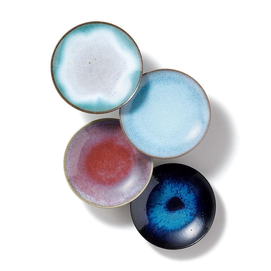 上野焼・豆皿4色セット