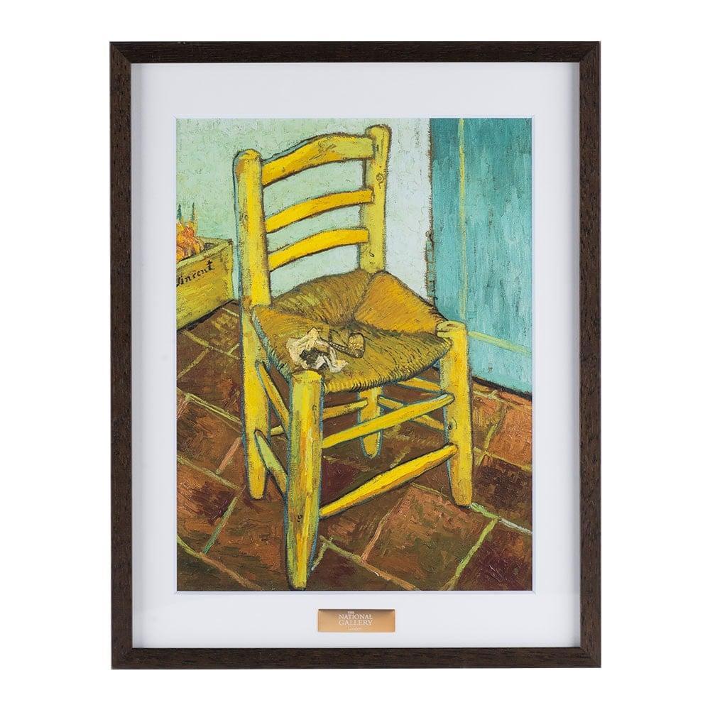 複製画「ファン・ゴッホの椅子」/額装