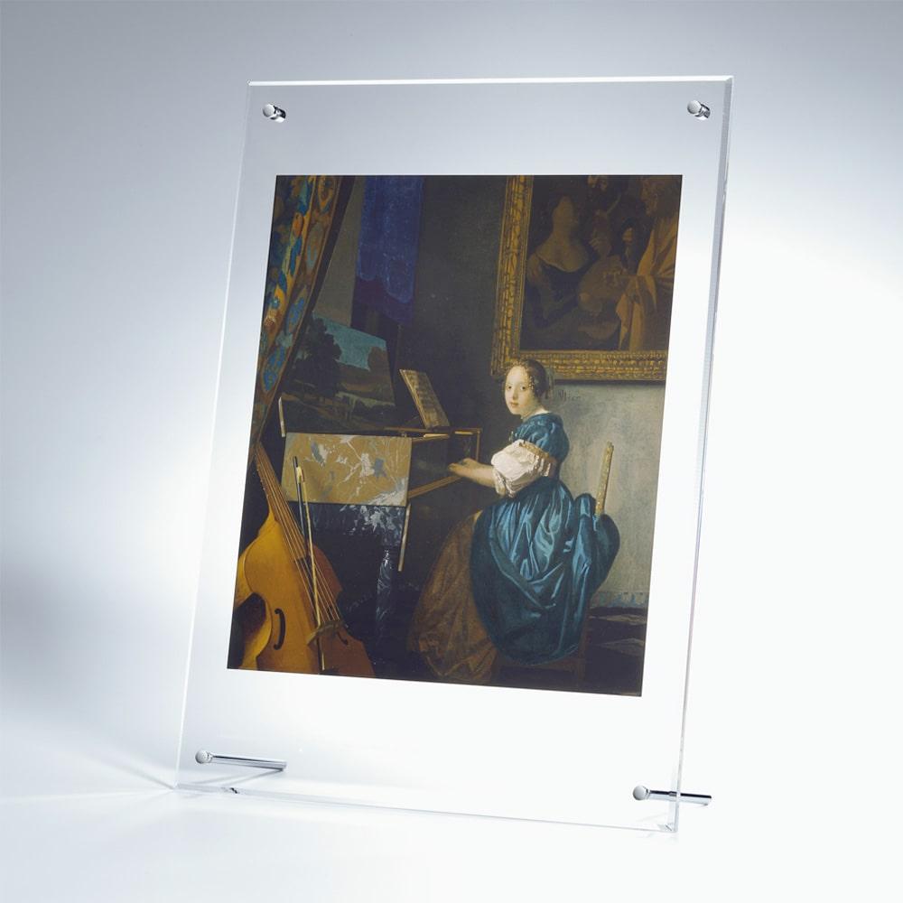 複製画「ヴァージナルの前に座る若い女性」/アクリル
