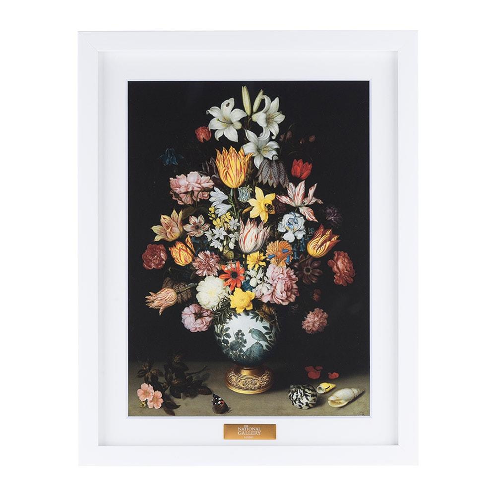 複製画「ワン・リー花瓶と花の静物」/額装