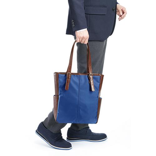 紳士の牛革トートバッグ
