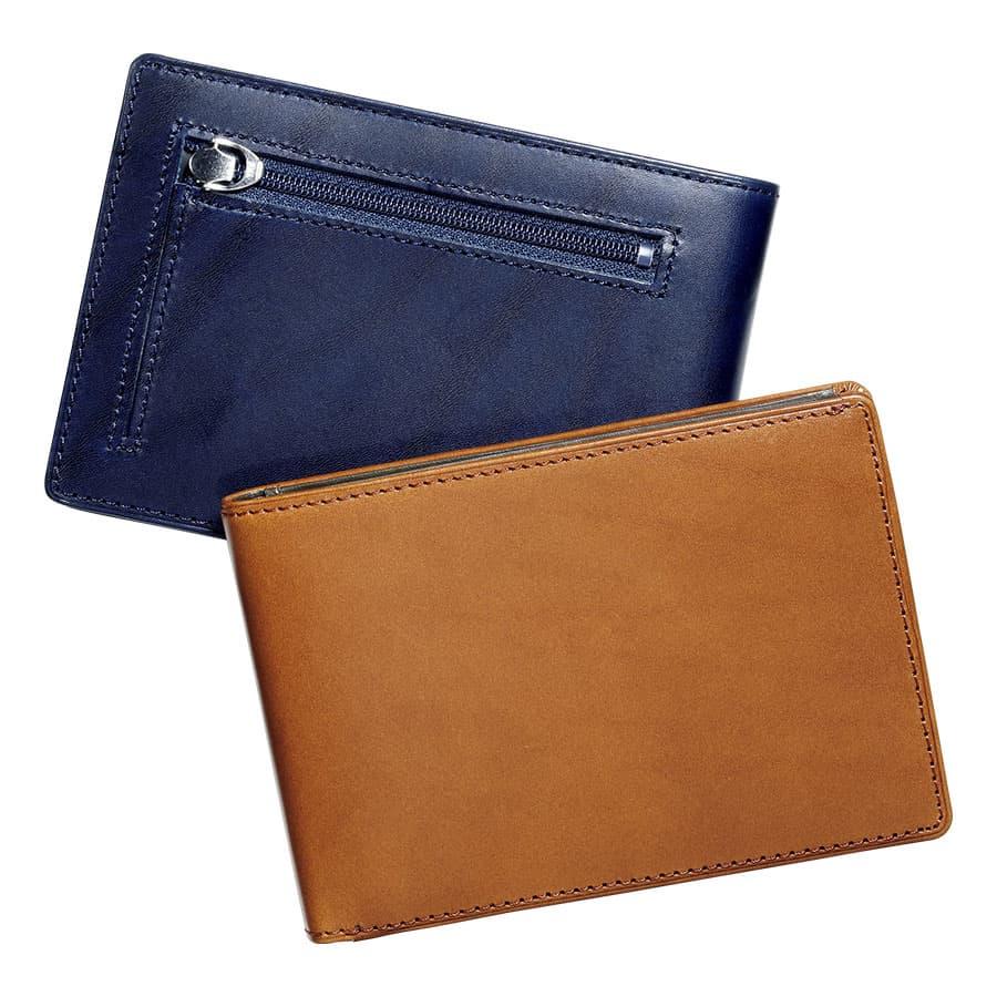 カードをたくさん入れても薄い財布・ブッテーロレザー