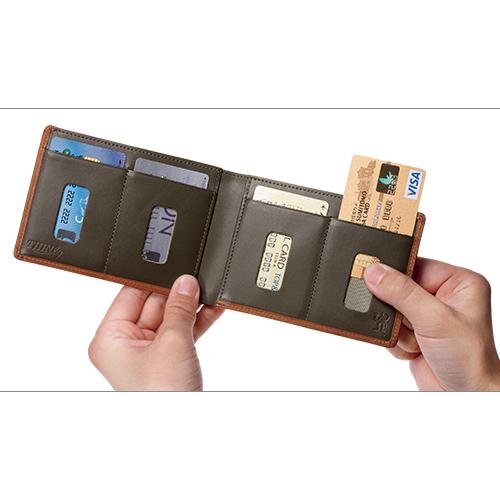 カードをたくさん入れても薄い財布 ブッテーロレザー