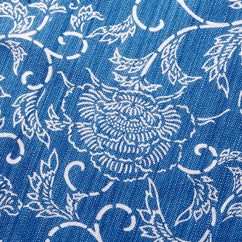 華唐草の藍染めののれん