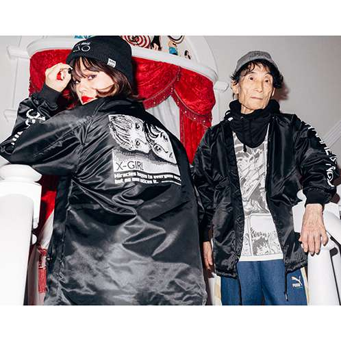 X-girl×KAZUO UMEZZ 「わたしは真悟」 COACH JACKET