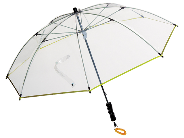 前が見えて雨風に強いアウトドア仕様の高品質ビニール傘