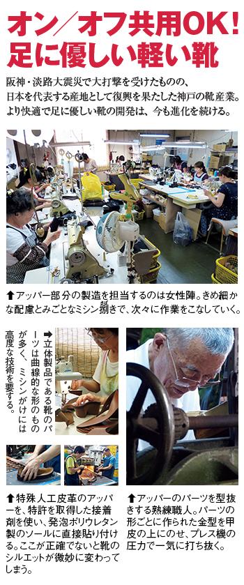 震災復興を果たした神戸靴産業、優しい靴の開発